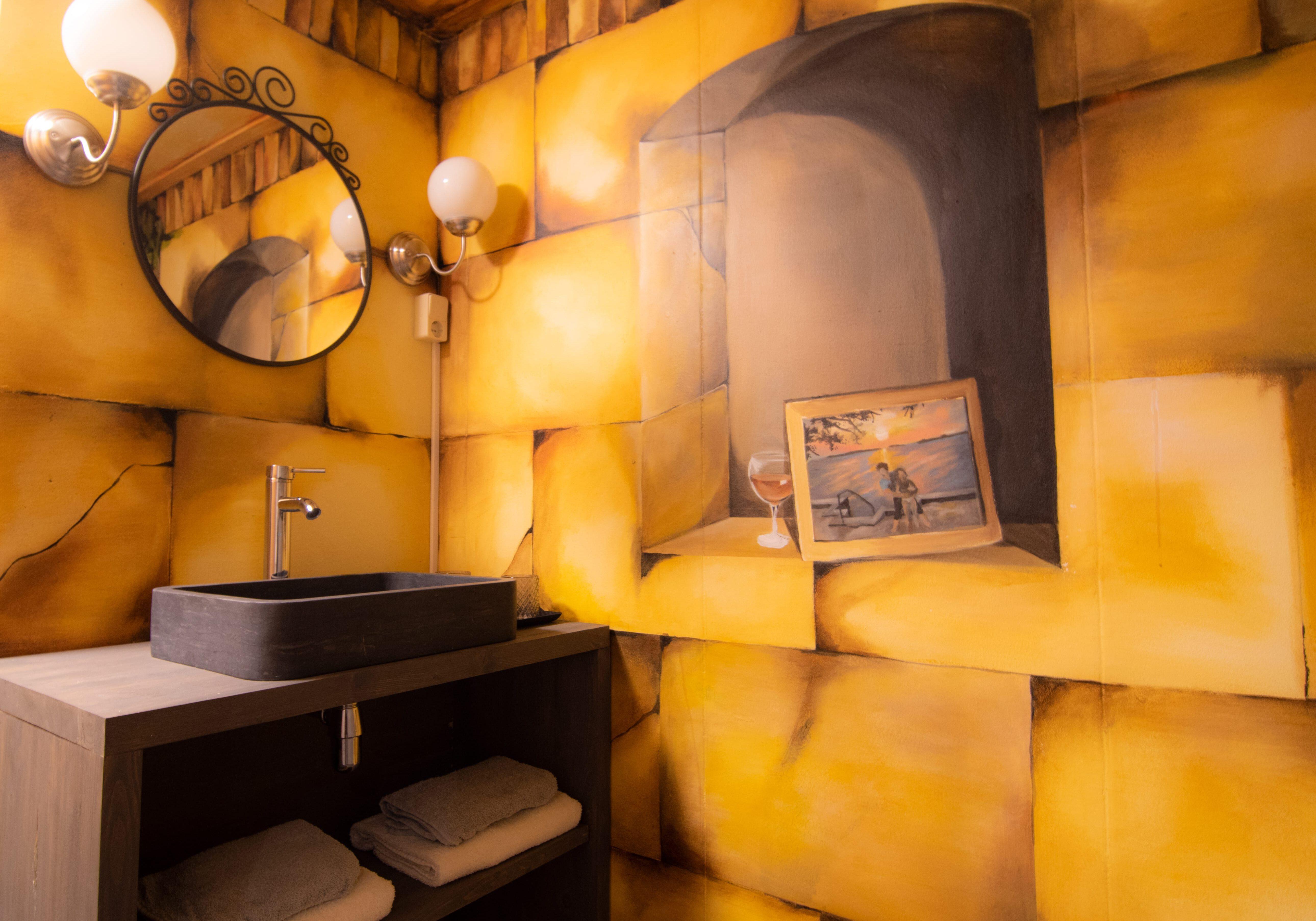 badkamer van bed en breakfast